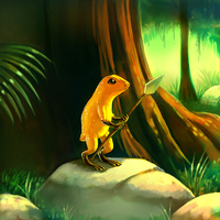 :commission:Poison Frog by kori7hatsumine