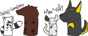 LaF Sausage Chibis by Alcalius