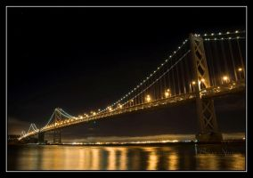 Bay Bridge At Night by o0oLUXo0o
