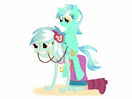 Lyra and Lyra (colored) by Lortstreet54