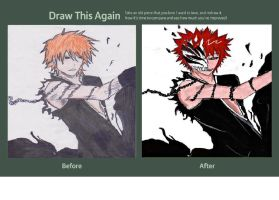 draw this again contest ichigo hollow by kuroshishiro