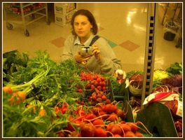 Self Portrait in Supermarket 1 by trina