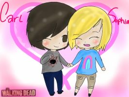 TWD - Carl x Sophia by StuffAndThiings