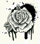 spray paint rose tattoo by ziuuziuu