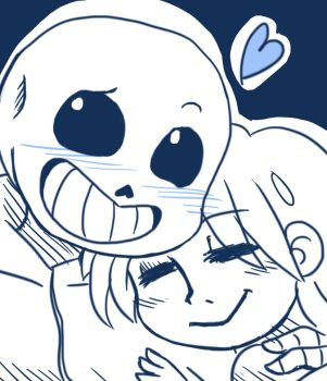 Sans and Frisk by Flakkynne