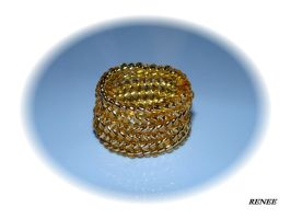 Gold hope bead ring by jasmin7