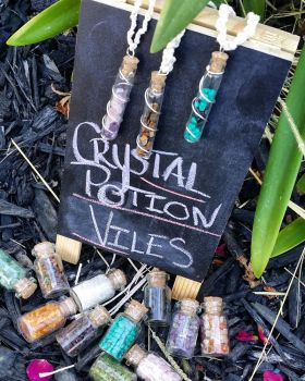 Crystal Potion Viles by Heralona