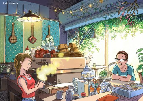 Punch Cafe Bar by Ayerslibrary