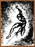 Spider-Man Symbiote Black and White 082812 by ChrisMcJunkin