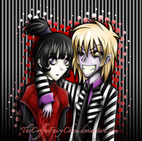 BeetleJuice And Lydia Colored by TheCoffeeFairyChan