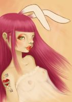 pink rabbit by bocetta