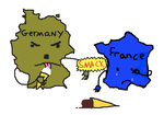 Germany vs. France by tri-edge-kite