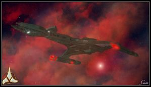 Klingon Cruiser by celticarchie