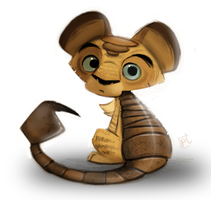 Daily Painting #718 - Quickie Manticore Cub by Cryptid-Creations
