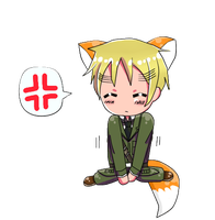 Chibi England Fox by OwOStrawberry