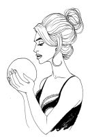 Girl holding a ball by DanBoyd