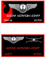 Red Squadron Nameplates by viperaviator