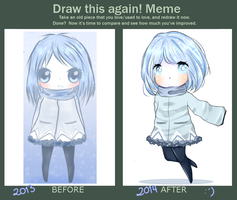 Draw this again! - Blue and the winter by Somichii