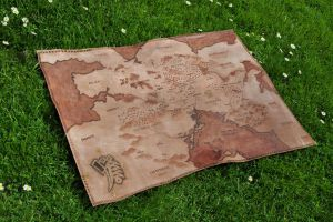 Empire LARP Leather Map by Jakari
