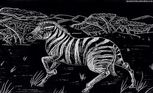 Zebra Safari Scratchboard by MuralsWithoutBorders