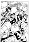 Deadpool Page 1 Pencils by Furuzono Inks by GN by Wryscher42