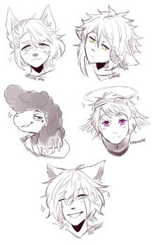 Headshot sketches 5 by b3astbeat