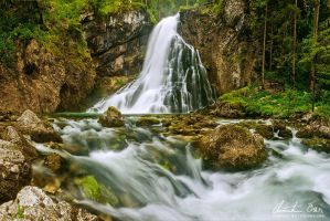 Waterfall Golling II by Nightline
