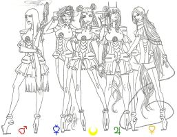 Inner Sailor Senshi Redesign by AngelicHeresy