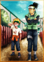 Naruto and Iruka just chilling by DIABLO123456