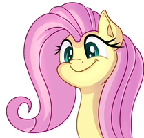 Fluttershy face by thediscorded