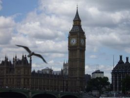 Big Ben and Seagull by lordoffireVIII