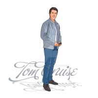 illustration of Tom cruise by animabase