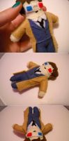 The Tenth Doctor in Felt by ThePaperCutFairy