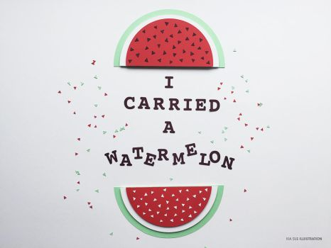 i carried a watermelon by KiaSuee