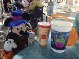 Minnie and Sparky at Disneyland by firegirl1995