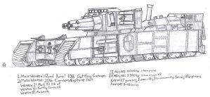 "Steam Tank ""Iron Plow"" by 0verlordofyou"