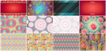 12 Abstract Backgrounds by Viscious-Speed