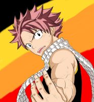 Natsu Dragneel Coloring by Cobletking