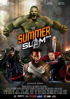 WWE Summer Slam 2013 Poster by Chirantha