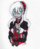 COLORED TRADITIONAL: Ally Protrait by InvaderIka