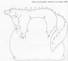 Jarry the komodo dragon by Tolstoy