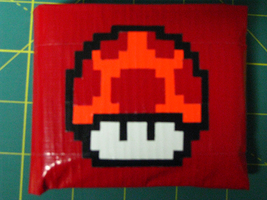 Mario Mushrm Duct Tape Wallet by gotz-pierced