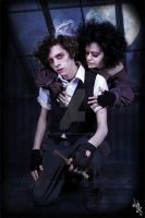 Sweeney Todd and Mrs Lovett by MADmoiselleMeli