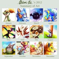 2012 Summary of Art by 0okami-Rei