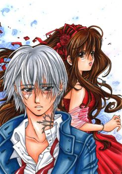 Vampire Knight - Blue Love by sky-fish7