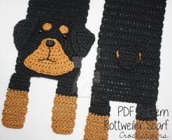 Rottweiler Dog Breed Scarf - Crochet Pattern by crochetions