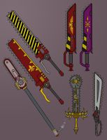 Chainsword concepts by LaithArkham