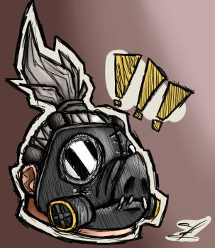 Roadhog!!! (Overwatch Roadhog fan-art) by Lebleuh