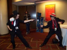 Anime USA 2009- Luffy vs Lucci by Flying-Glove