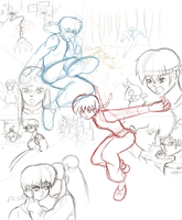 Ranma Poster WIP by MicAwesome